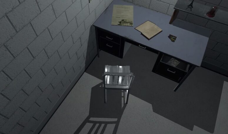 A chair in a room VR